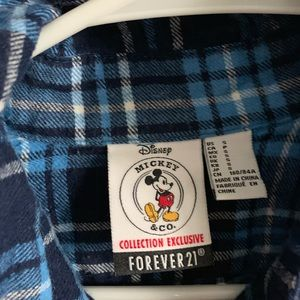Forever 21 Tops - Mickey Mouse flannel